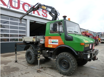 Unimog U 1000 + Hiab 650A - construction machinery