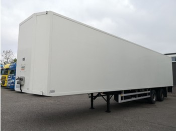 Netam-Fruehauf 2-Asser - Stuur-as - Liftas - FELD HOORN opbouw - 2000kg Zepro - DEENSE+VBA karren - closed box semi-trailer