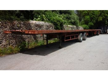 NETAM-FRUEHAUF Two axle trailer with twist locks for containers - dropside/ flatbed semi-trailer