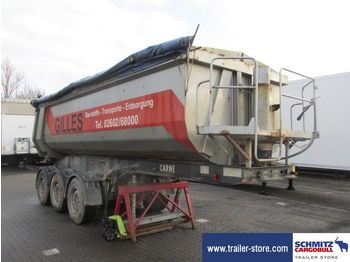 Carnehl Semitrailer Tipper Steel half pipe body 27m³ - trailer
