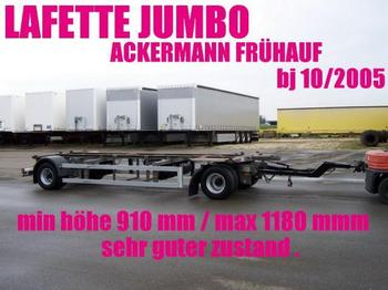 Ackermann LAFETTE JUMBO 910 - 1180 mm zwillingsbereift 2 x - container transporter/ swap body trailer
