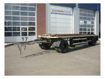 Burg 2-assige containeraanhangwagen - container transporter/ swap body trailer