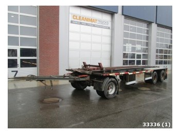 GS Meppel AC-2800R 3-assige containeraanhanger - container transporter/ swap body trailer