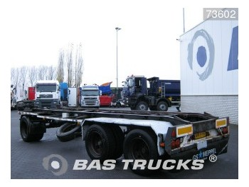GS Meppel Steelsuspension AC-2800 N - container transporter/ swap body trailer
