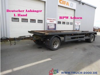 Hilse 2 Achs Abroll + Absetzcontainer BPW 1.Hand - container transporter/ swap body trailer