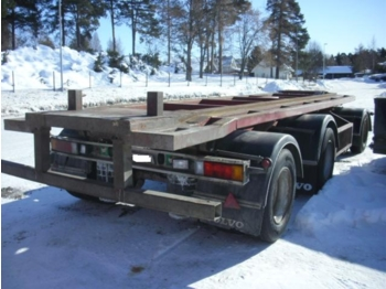 Nor slep Containerhenger m/tipp - container transporter/ swap body trailer