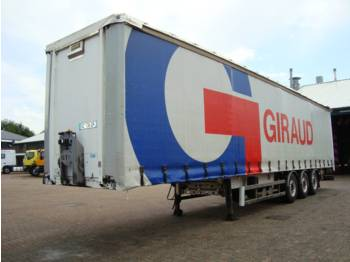 Robuste Kaiser Coil trailer / Curtainside 3 axle - container transporter/ swap body trailer