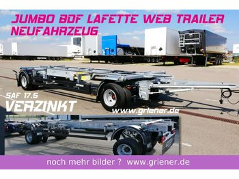 Container transporter/ swap body trailer Web-Trailer JUMBO / MAXI BDF 7,15/7,45 LAFETTE 960 mm höhe