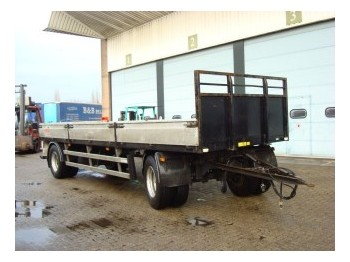 Burg OPEN MET BORDEN 2-AS - dropside/ flatbed trailer