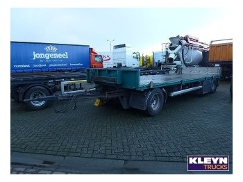 GS Meppel BPW AXLES 20 FT TWISTLOCKS - dropside/ flatbed trailer
