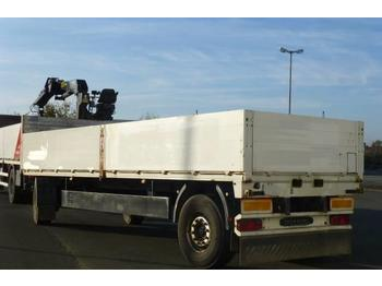 Meusburger MPA 2, Baustoff, 7360mm, weiß, 18 to.  - dropside/ flatbed trailer