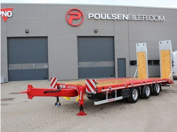 Hangler 3-axle tridem machinery trailer 2.800mm ramps - low loader trailer