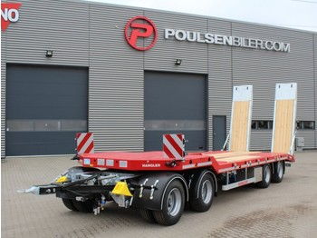 Hangler 4-axle machinery trailer 2.800mm ramps - low loader trailer