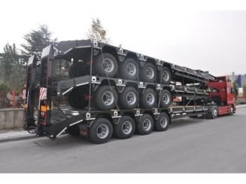 OZGUL LW4 80 Ton, 3 m, steel susp., hydr. ramps - low loader trailer