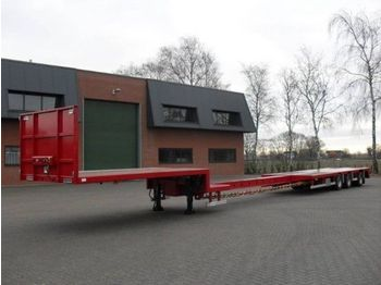 Tracon TO1827 uitschuifbaar - low loader trailer