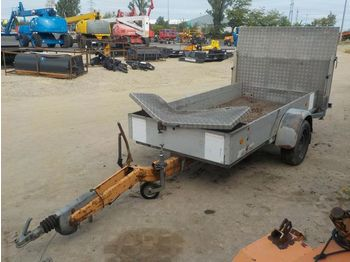 Trebbiner Single Axle Trailer, Loading Ramp - trailer