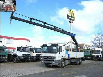 Mercedes-Benz Actros 2541 L6x2 Pritsche Heckkran 5xhydr.+Funk  - dropside/ flatbed truck